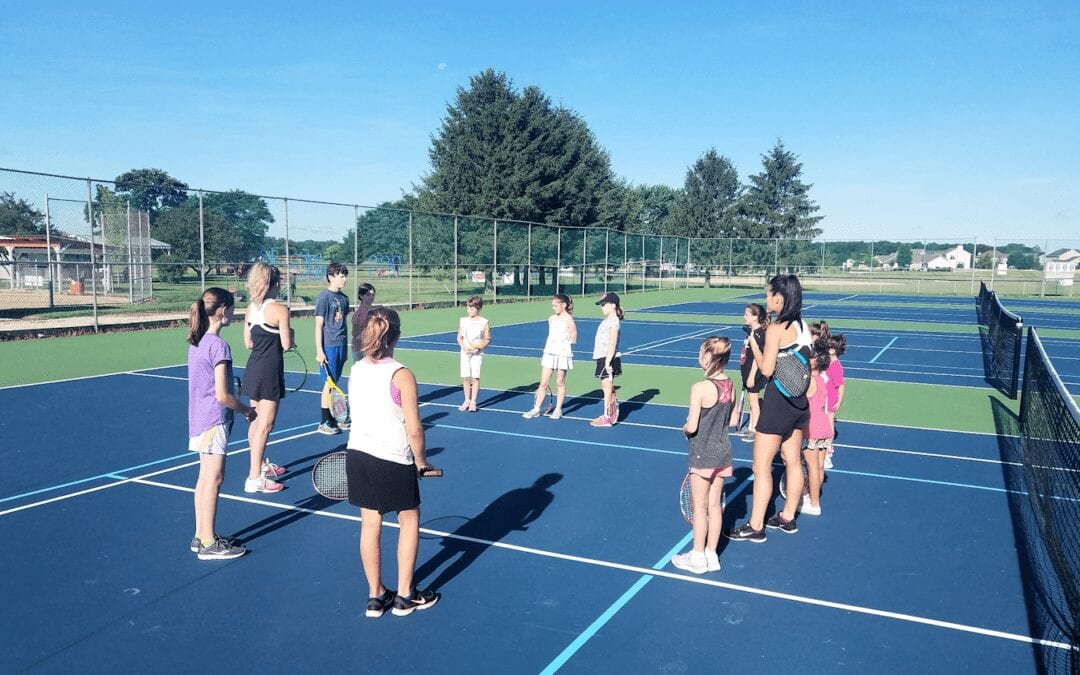 Instructional tennis lessons